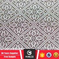 China supplier wholesale latest white chantilly polyester lace fabric