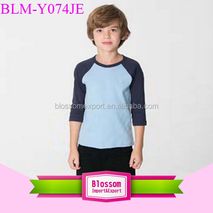 Hot Stylish Blank Tops Short Sleeve Summer Clothes Boys T-Shirt Cotton Kids Tee Knit Shirts