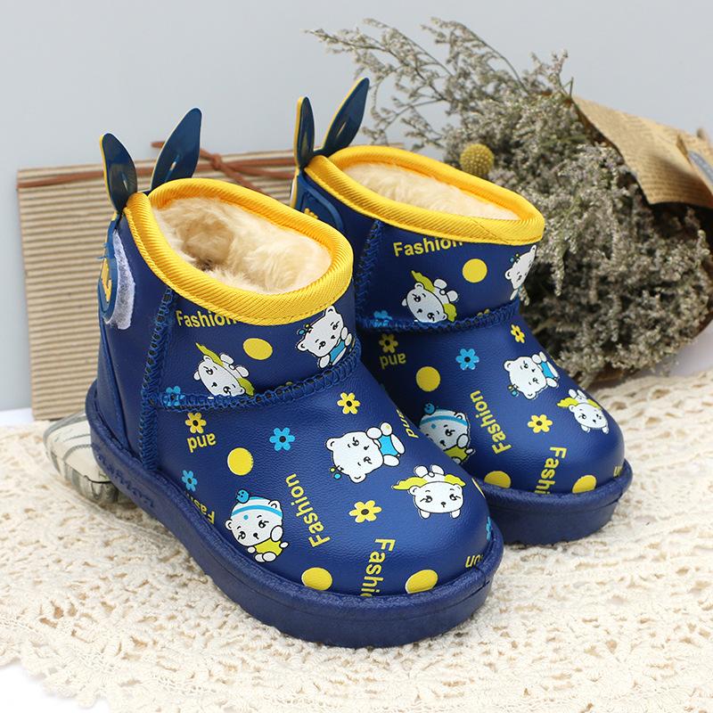 Зима новый детьми снегоступы непромокаемые ботинки хлопка детей сапоги мальчики девушки дети сапоги противоскользящие дети обувь