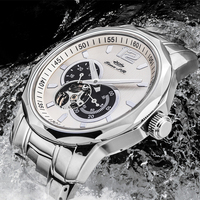 5ATM New Arrival Custom Logo Men Mechanical Skeleton Stainless Steel Automatic Watch
