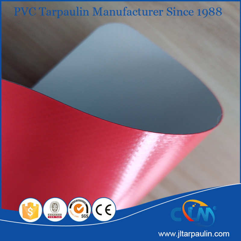 flame resistance 750gsm white and red PVC tarpaulin tent materials