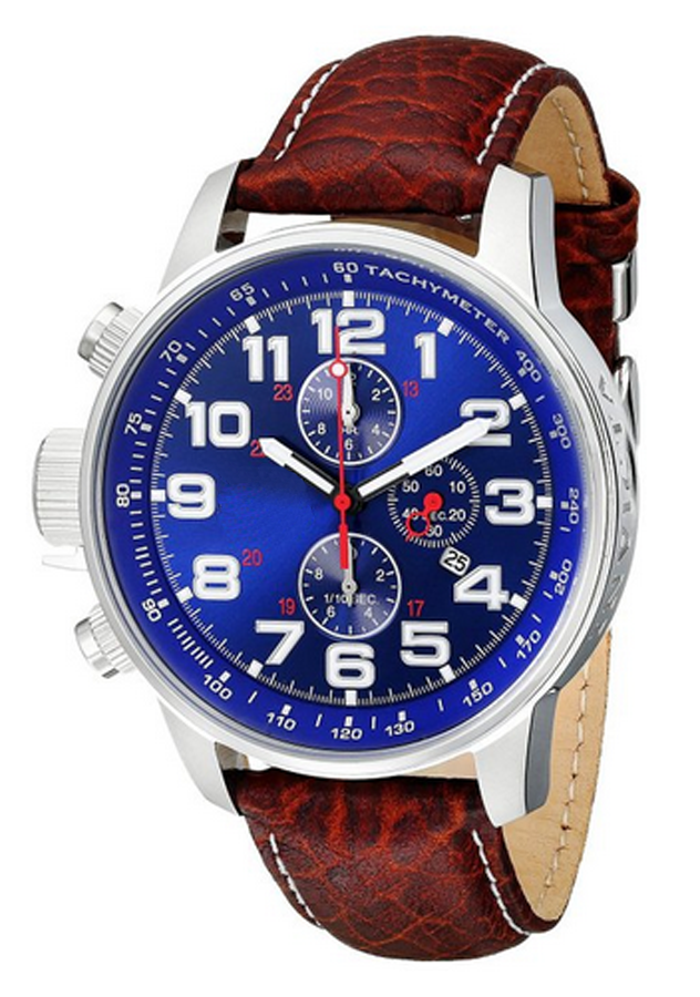 Men's Automatic Stainless Steel Watch with Browm Canvas Strap