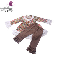 kids girl 2017 newest fall clothing clothes sets children's wear wholesale