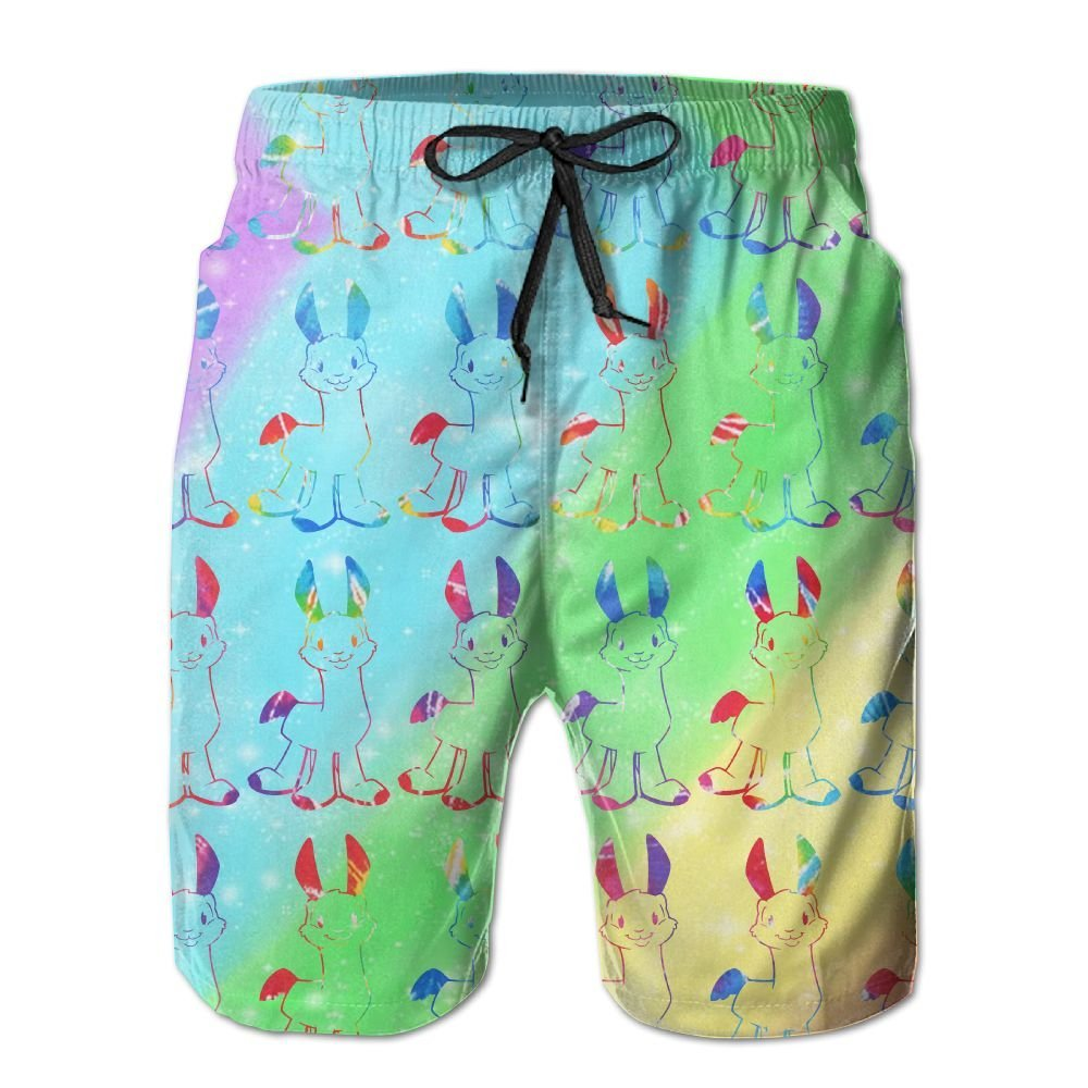 1a69028bd1 Get Quotations · Rtplky Ygimt Funny Cute Llamas Colorful Tie Dye Mens Quick  Dry Classic Workout Swim Trunks Beach