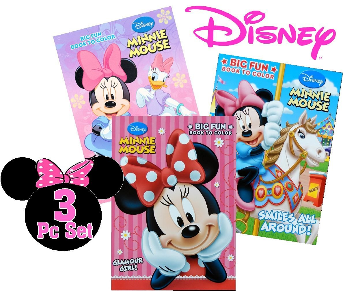 - Buy Disney Minnie Mouse Coloring Book Set (3 Books ~ 96 Pages Each