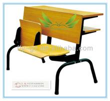 Wooden Folding Step Desk and Chair for university