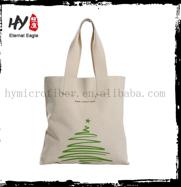 Brand new custom logo printing canvas tote bag