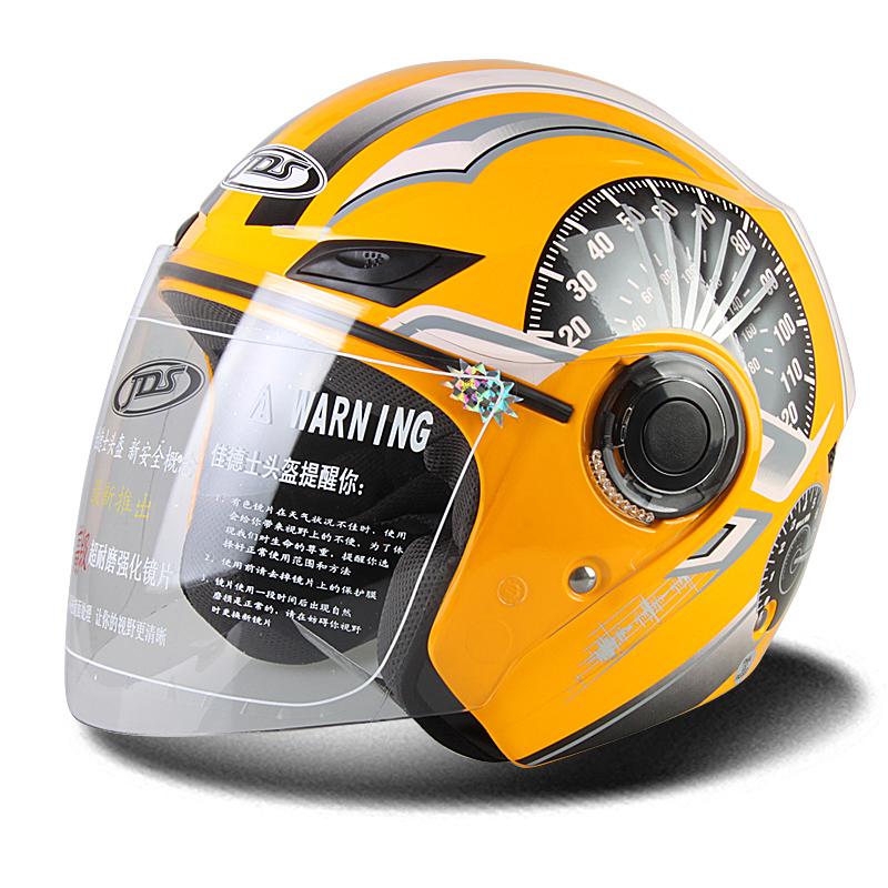 Grey Jili Online Adjustable Motorcycle Helmets 3 Snap Flip Up Visor Face Shield Lens 3//4 Open Face