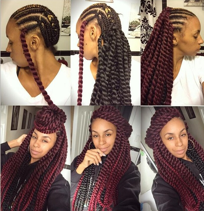 Synthetic Ombre Kinky Marley Twists Braiding Hair 24 Inch Havana