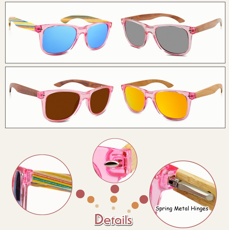 2017 New Product Cheap Bamboo Temple Uv400 Polarized Lens Natural ...