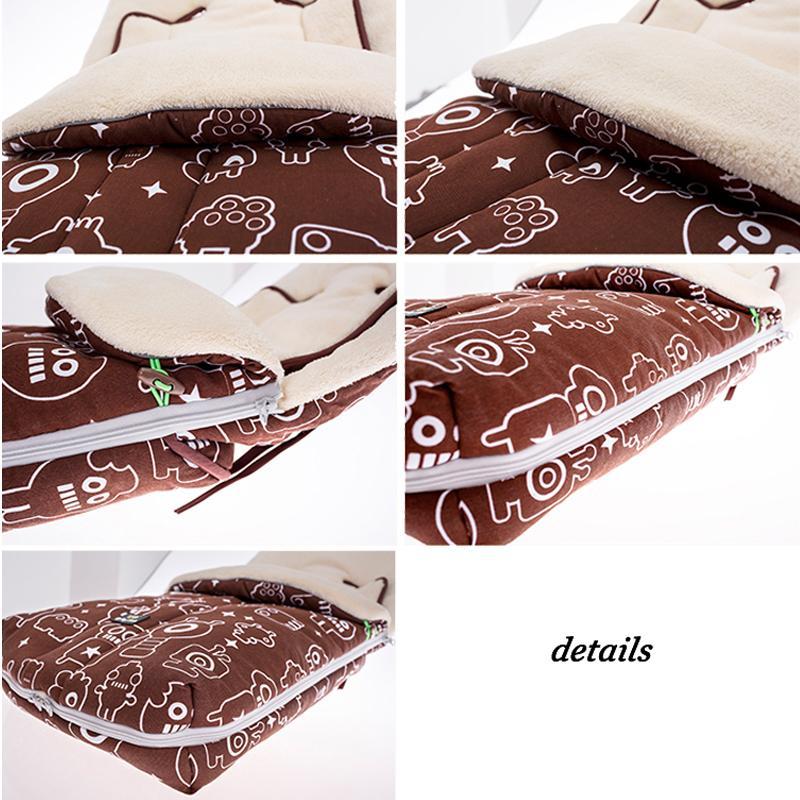 Ребенка спальный мешок для Strolller европейский стиль ребенка спальный мешок для корзину толстым одеялом для прогулки младенческая Fleebag зима
