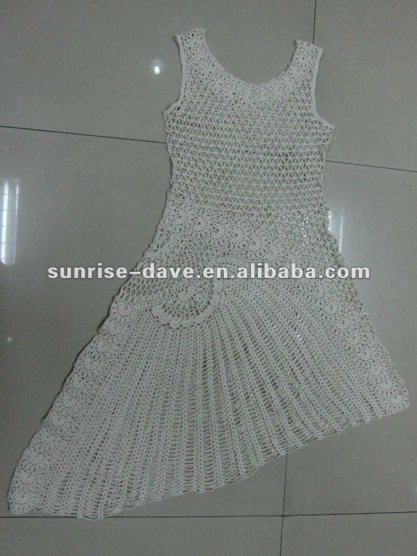 Vestido De Ganchillo Algodón Sundress - Buy Vestido De Ganchillo ...