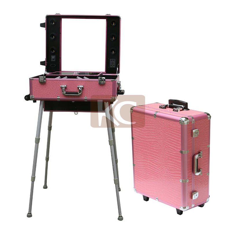 Moq 1pc,Aluminum Make Up Station With Lights With Mirror With ...