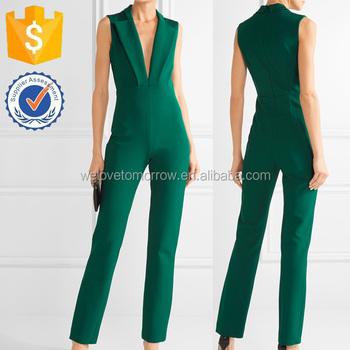 Green Emerald Straight Leg Plunge V Neck Latest Fashion Formal Fashion Jumpsuit For Ladies Manufacturer Women Apparel Tf0113s Buy Fashion
