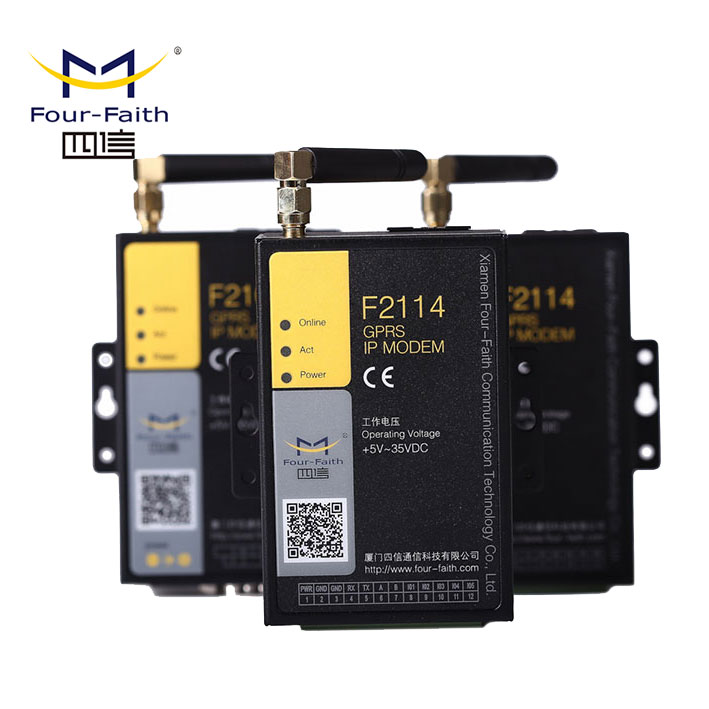 GPRS cable Modem with external antenna & sim card slot support RS232/485 port F2114 for telemetry application
