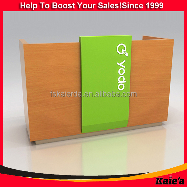 2015 Wooden Cash Counter Counter Table Design Front Desk Counter ...