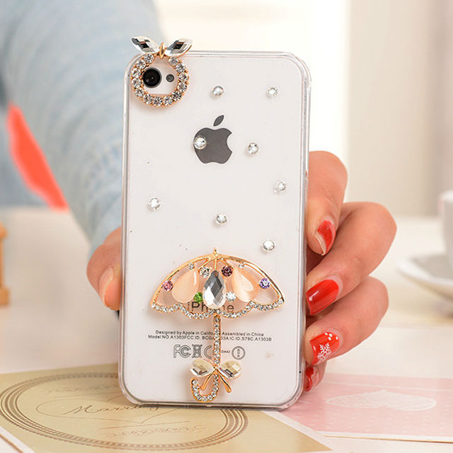New Arrival Cell Phone Bling Cover for iPhone 4 Crystal Clear Slim Case