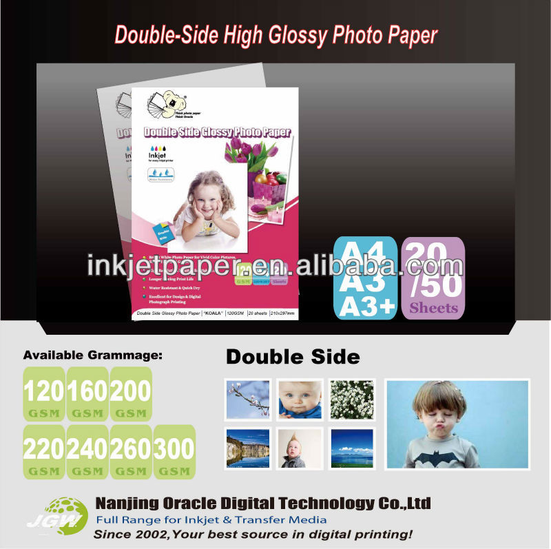 300Gsm double-side glanzend fotopapier