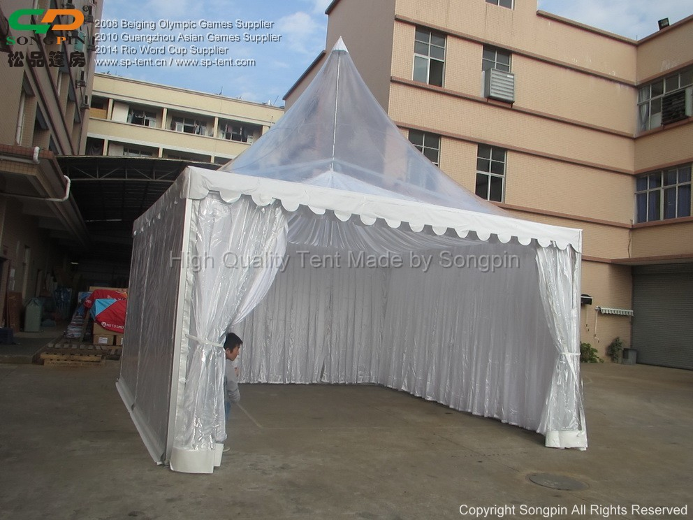 4x4m Aluminum Frame Waterproof Clear Plastic Party Tent