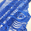 2018 Royal blue african voile lace fabric embroidery hand beaded dress lace on sale