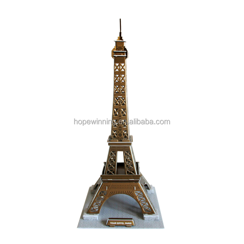 Made in China colorful security fun 3D puzzle Eiffel Tower Education Toy