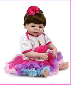 A buon mercato Adorabile 16 Pollici Bebe Reborn Silicone Baby Doll Per I Bambini