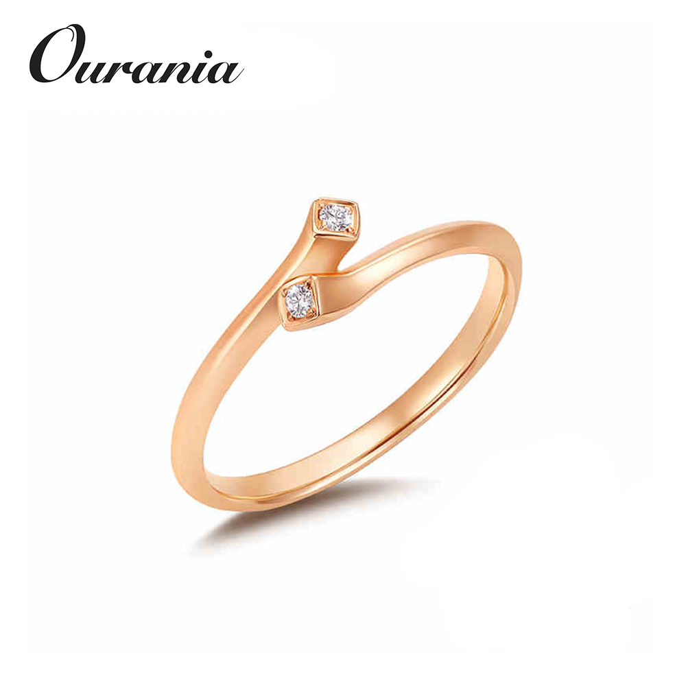 High Quality Wholesale Sterling Silver Jewelry Inexpensive Plated Rings with Zircons for Womens