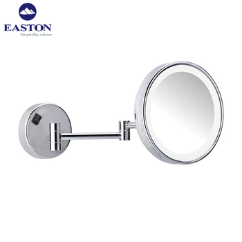 Hotel Wall Mounted Magnifying Cosmetic Mirror Bath Room Led Light Bathroom Mirrors View Easton