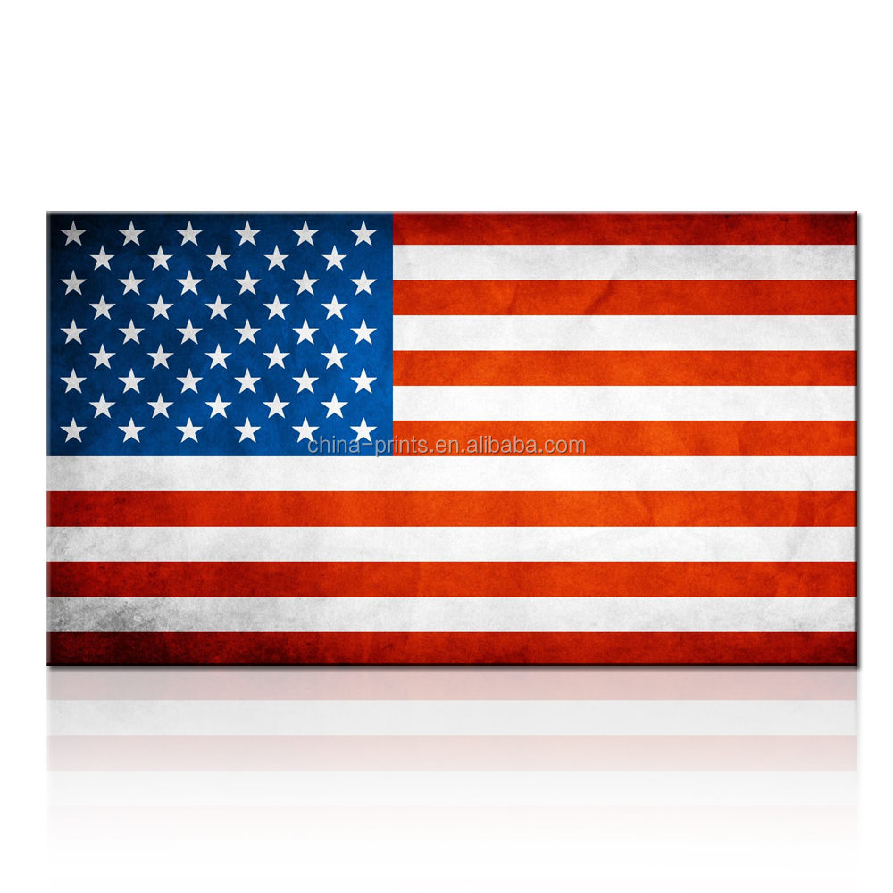 Canvas Print Wall Art Painting For Home Decor Hd Usa Flag