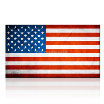 Canvas Print Wall Art Painting For Home Decor Hd Usa Flag Wallpaper Modern Giclee Prints
