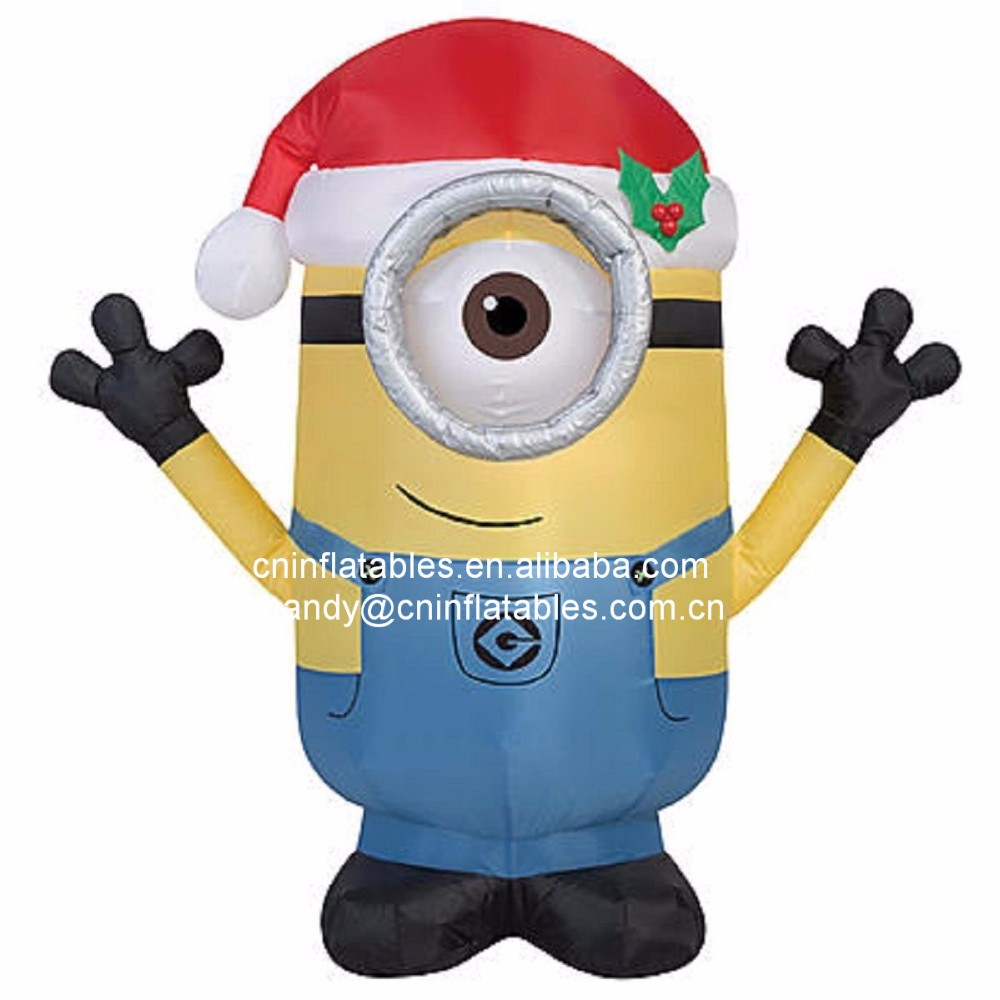 New Design Outdoor Large Christmas Inflatable Minion Model for Sale
