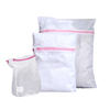 Wholesale Home Use Eco-friendly White Mesh Laundry Bag Set Thickened Fine Mesh Bags Washing Bag
