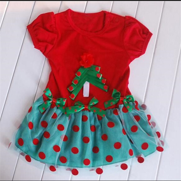 Wholesale beautiful comfortable fancy christmas baby dress
