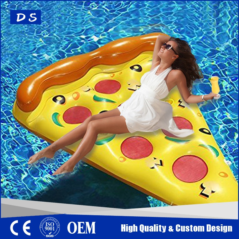 Custom design inflatable pizza slice giant pool floats for sale