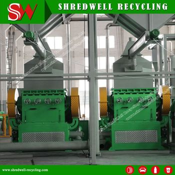 China Manufacturer Rubber Crumb Equipment for Scrap Tyre Recycling