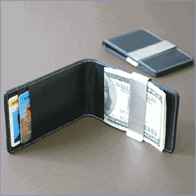 pu money clip wallet with removable metal clip leather money clip card holder for christmas gift - Money Clip And Card Holder