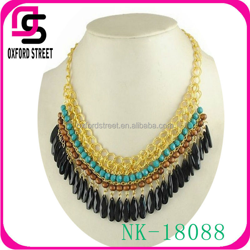 2014 latest fashion India style statement women necklace