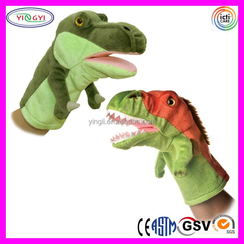 A230 Adorable Plush Dinosaur Hand Puppet Life Size Dinosaur Puppet