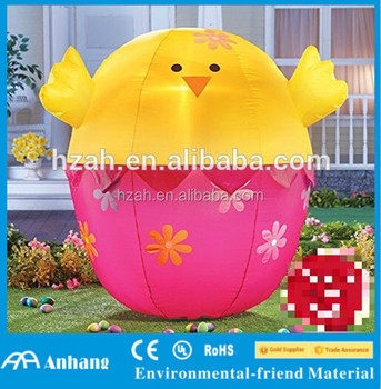 Christmas Decoration Inflatable Easter Chick Inflatable Light Up