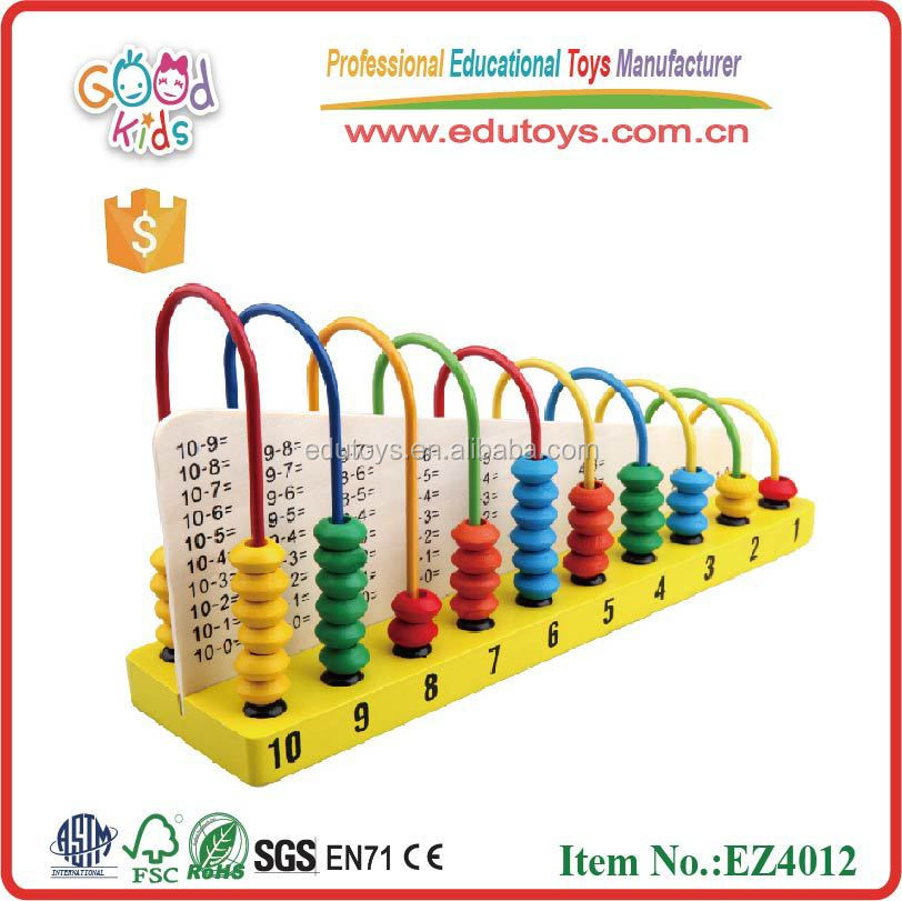 Educatinal Color children abacus calcuation frame wooden toys