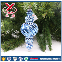 2017 new irregular glass decoration for Christmas tree ornaments