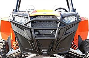 New Black Dragonfire Racepace Front Bash Bumper - 2015-2016 Polaris RZRS900 UTV