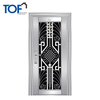 Stainless Steel Grill Front Door New Design Steel Front Gate