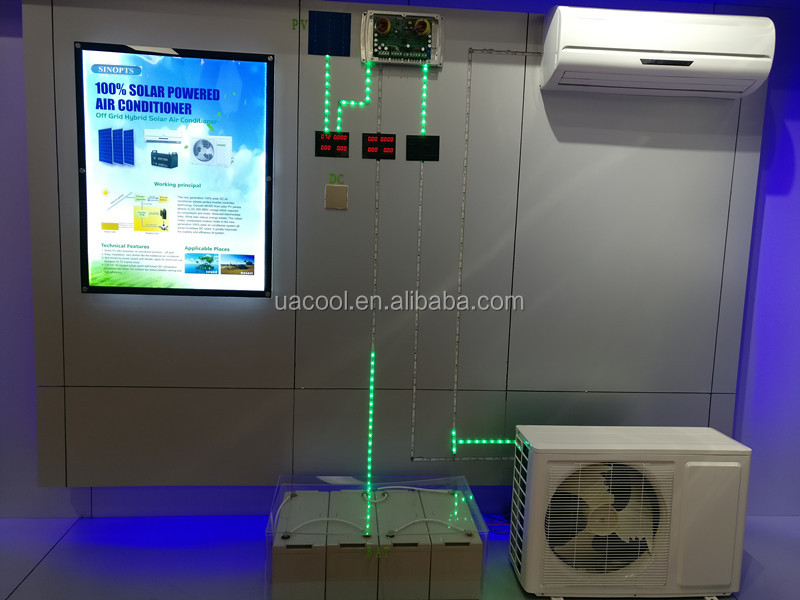 Cheap price power saving AC or DC solar air conditioner wholesale