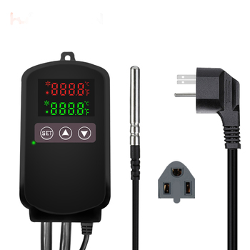 Digital floor heating 10A  programmable plugin reptile  thermostat with waterproof sensor probe