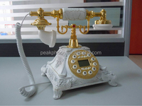 White cheap decorative antique caller id phone