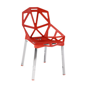 Modern design stackable polypropylene chair with aluminum legs