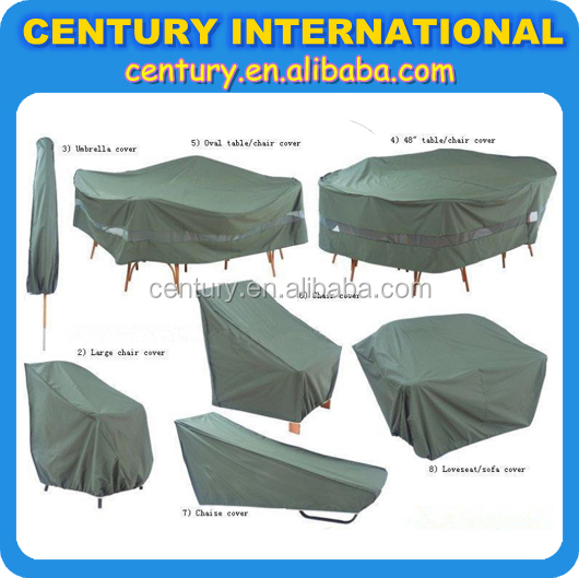 UV and Waterproof garden furniture cover,outdoor furniture cover in PE or polyester or PVC for all weather protection