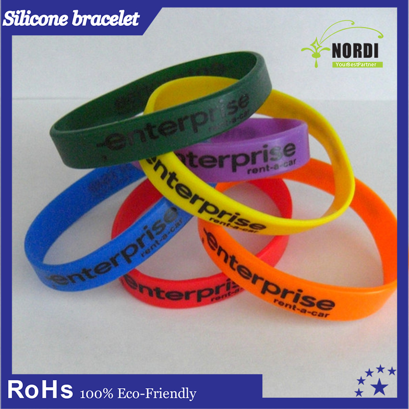advertise gift silicone wristband rubber bracelet