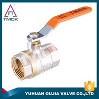 TMOK 2 inch brass ball valve with forged CW617n materal and stainless steel andle and thread Hpb57-3
